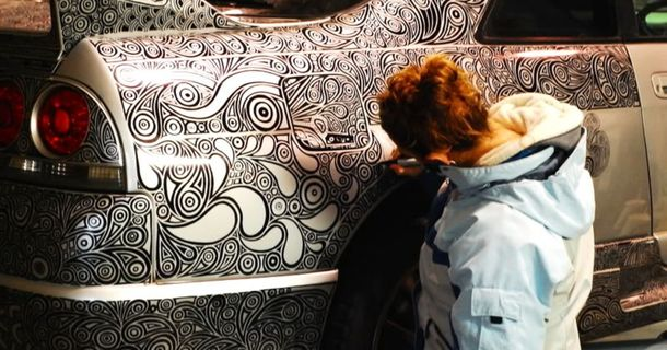 What This Guy's Artist Girlfriend Did To His Car Will Amaze You